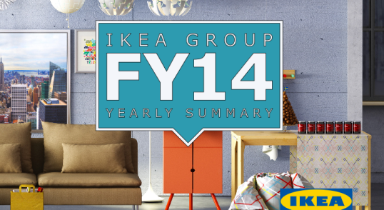 The cover of the IKEA Group Yearly Summary, Financial Year 2014.