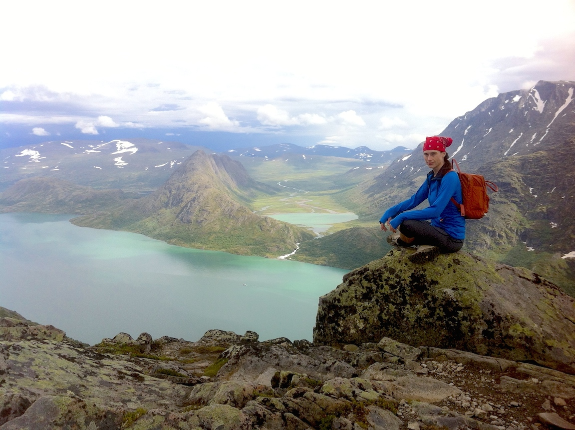 Me on the edge of a Norwegian fjord
