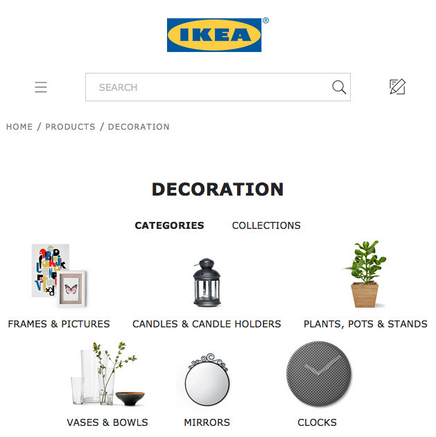 The Decoration landing page on IKEA.com for Ireland