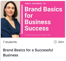 Online course: Brand Basics on Skillshare